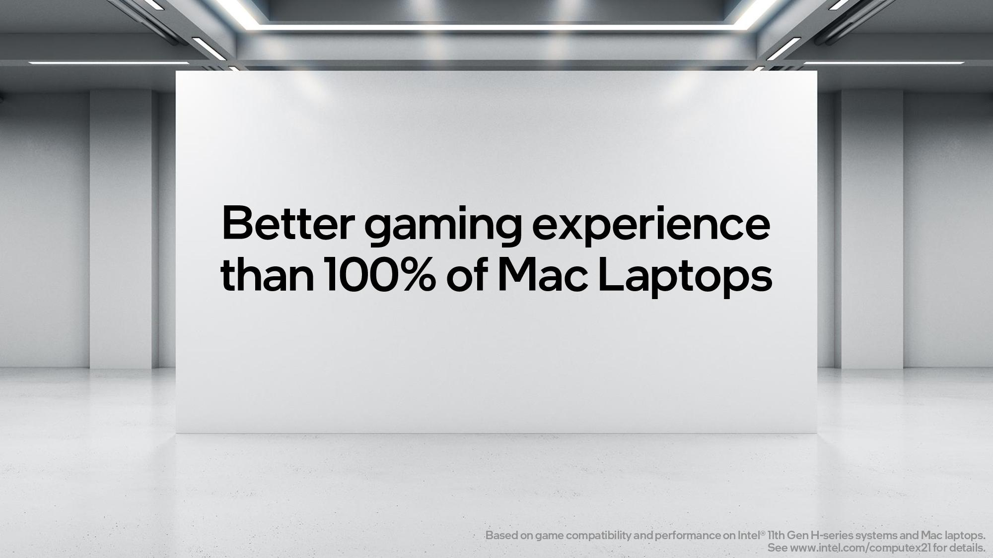 Intel Provides Better Gaming Experience Than 100% Of Apple Mac Laptops