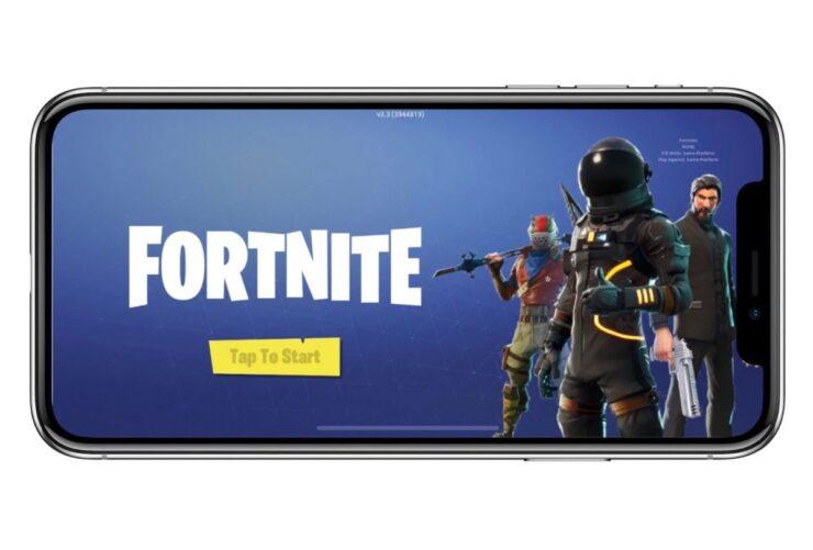 Fortnite on iOS through GeForce NOW