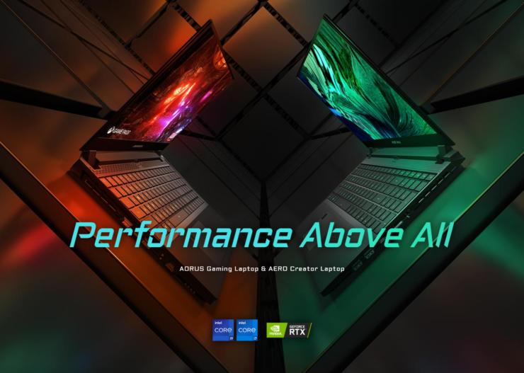 Gigabyte AORUS Intel 11th Gen Tiger Lake-H CPU & NVIDIA GeForce RTX GPU Powered Gaming Laptops