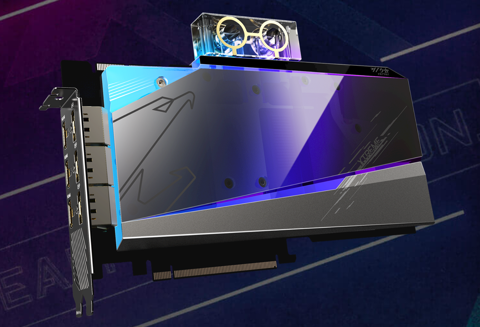 Gigabyte Radeon RX 6900 XT AORUS Xtreme Waterforce WB Graphics Card Pictured