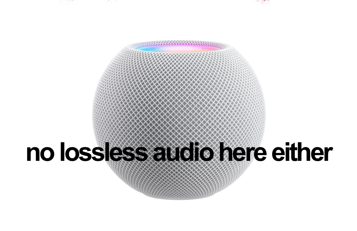 Apple Music lossless audio support not coming to HomePod or HomePod mini