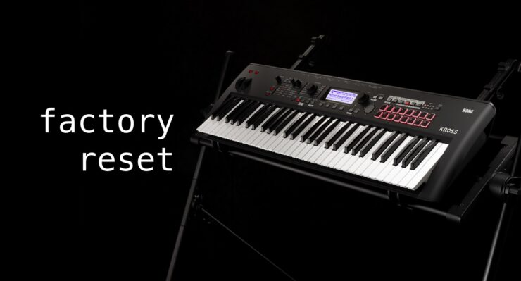 Learn to factory reset the Korg KROSS 2 workstation