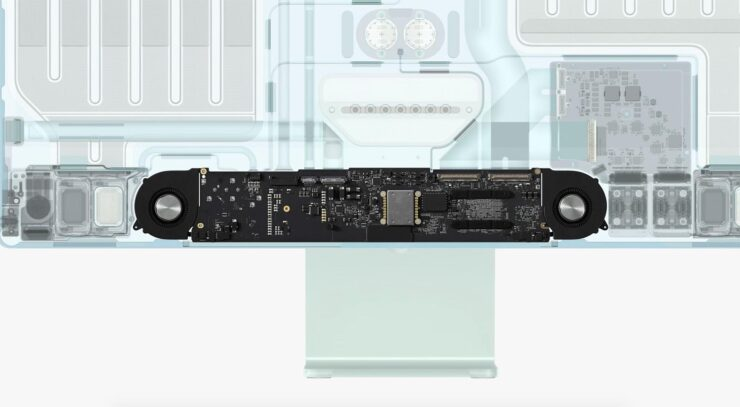Base M1 iMac With 8-Core CPU, 7-Core GPU Features Just One Fan for Cooling - Upper-Tier Versions Have a Better Thermal System
