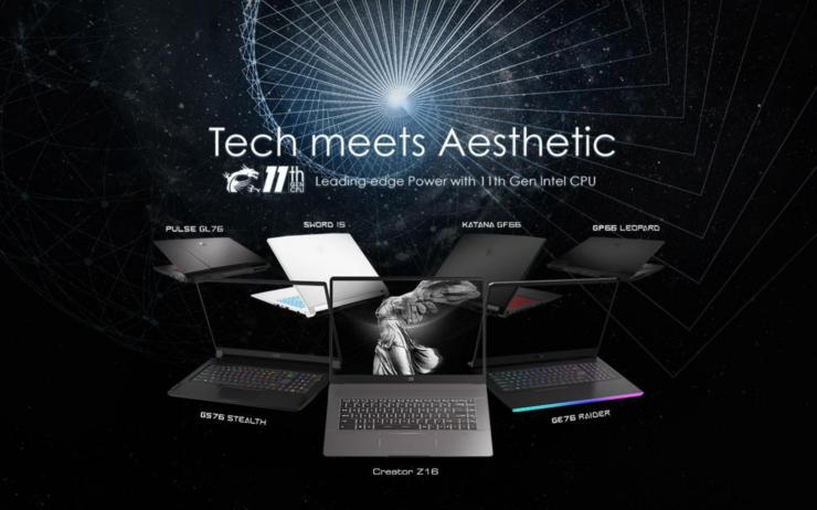 MSI Powers Its Latest GE76, GS, GP, GL, Sword, Katana & Crosshair Gaming Laptops With Intel 11th Gen Tiger Lake-H CPUs