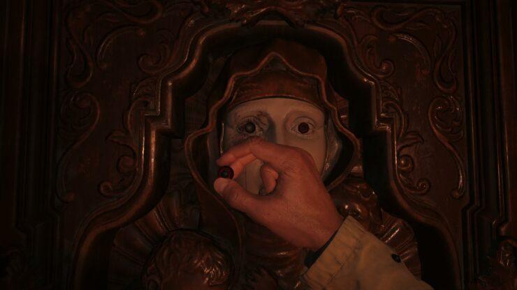 Maroon Eye Door