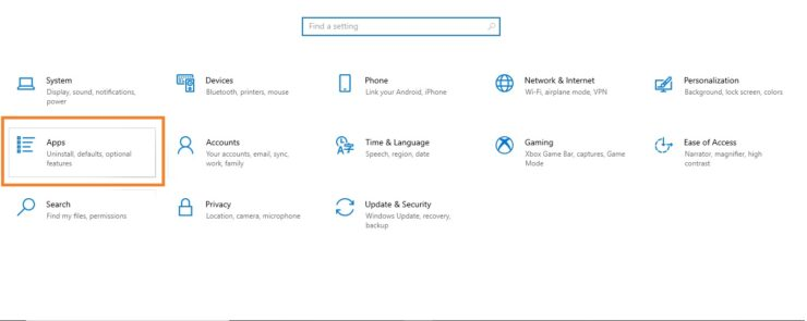 Services Application - Settings