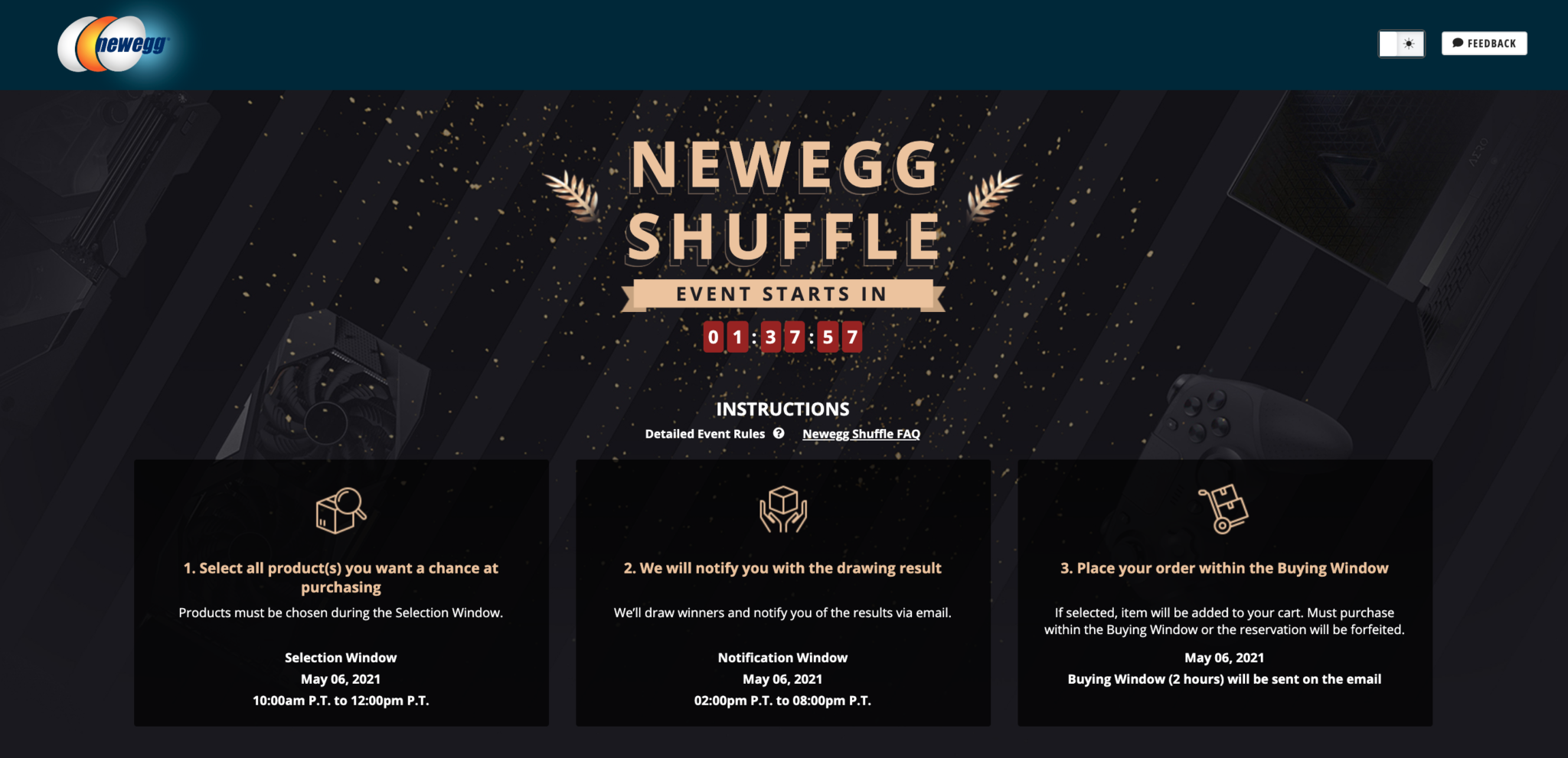 Newegg Shuffle – May 6th: NVIDIA GeForce RTX 3060, 3060 Ti, 3070, & 3090 Graphics Cards Available In Today's Shuffle