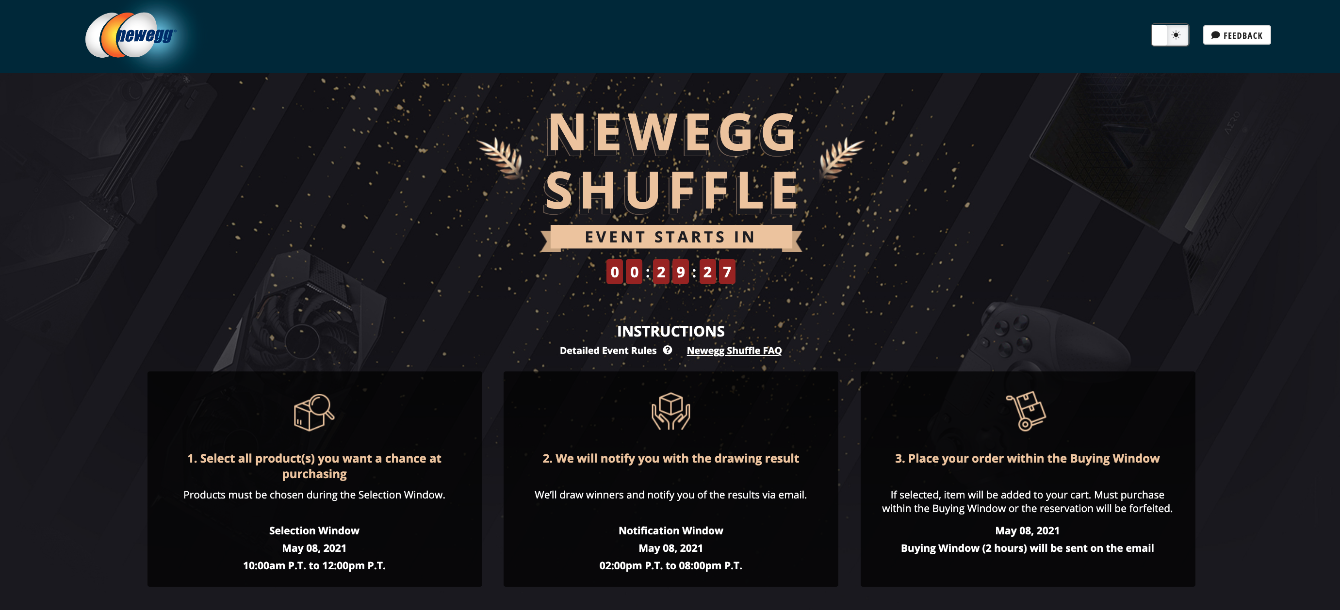 Newegg Shuffle – May 10th: Both NVIDIA GeForce RTX 30 Series & AMD Radeon RX 6000 Series Graphics Cards Available Today