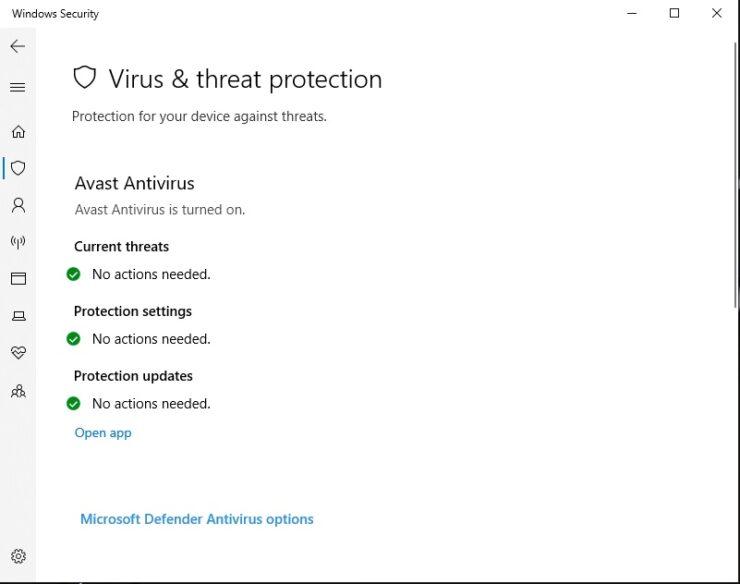Virus & Threat Protection Options 1