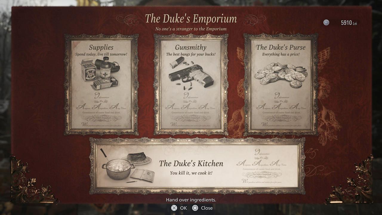 Resident Evil Village Duke's Emporium