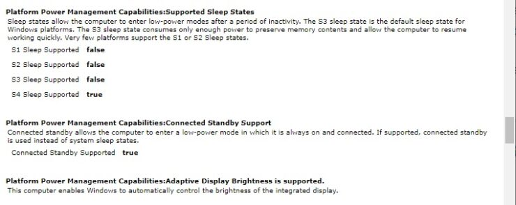Windows 10 powercfg energy report