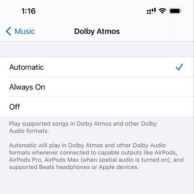 Enable Spatial Audio and Lossless Audio in Apple Music