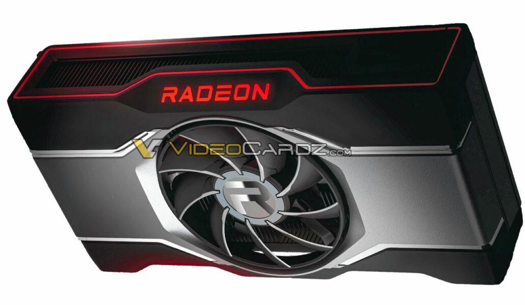 Vea la tarjeta gráfica de referencia AMD Radeon RX 6600 XT.  (Créditos de la imagen: Videocardz)