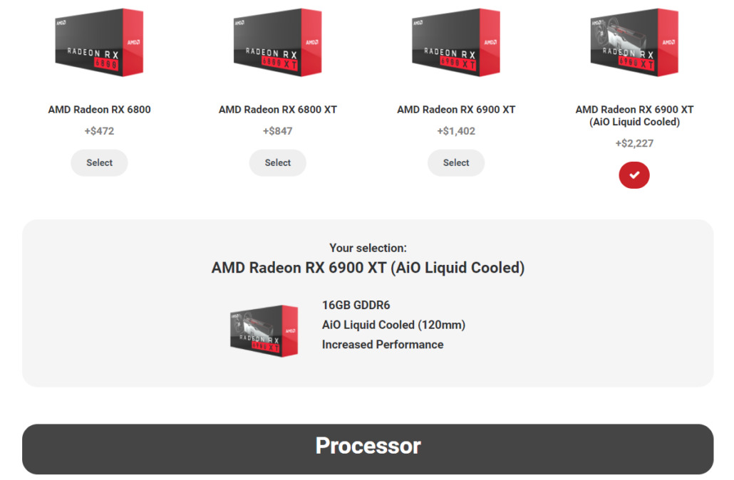 AMD Radeon RX 6900 XT Liquid Cooled Edition Graphics Card Pricing