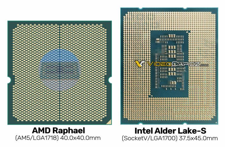 AMD Raphael and Intel Alder Lake LGA-1700 comparison