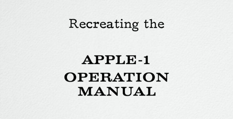 Apple I Manuals