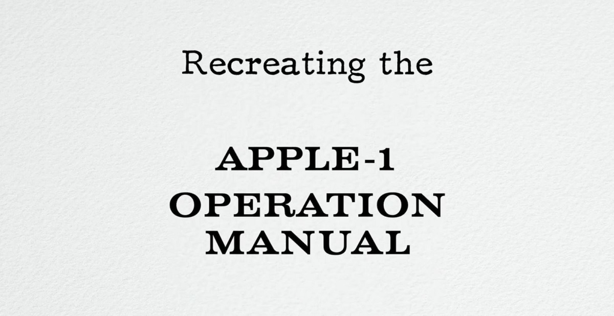 Apple Fan Recreates Reproductions of Apple I Manuals With Utmost Precision