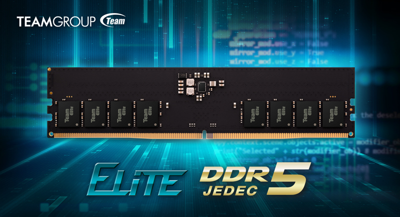 TEAMGROUP Officially Launches ELITE Series DDR5 Memory Kits, 32 GB & 4800 MHz Starting at 9.99 US