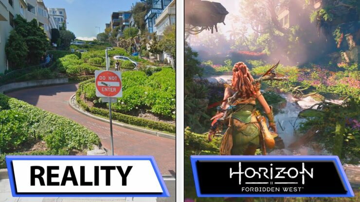 Horizon Forbidden West San Francisco Reality Comparison