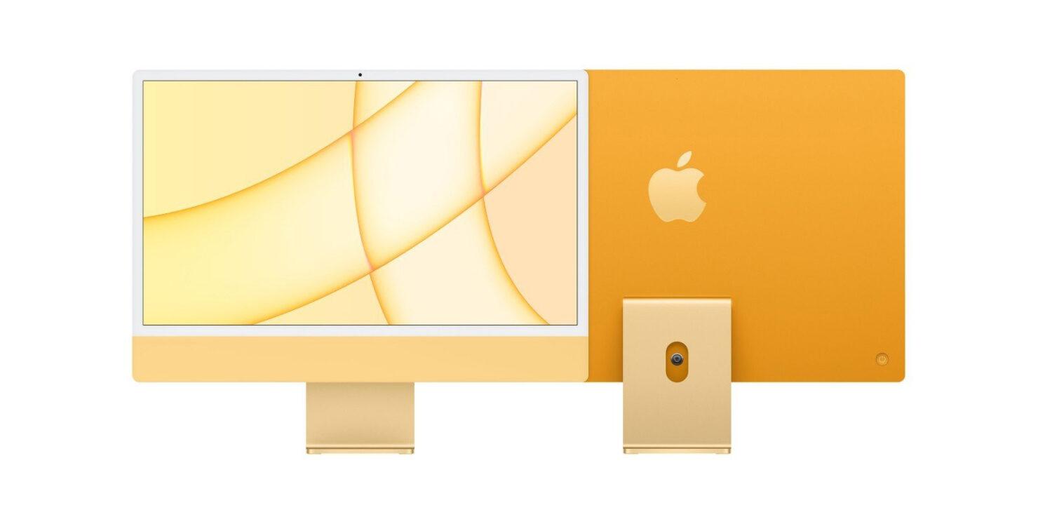 Tilted M1 iMac