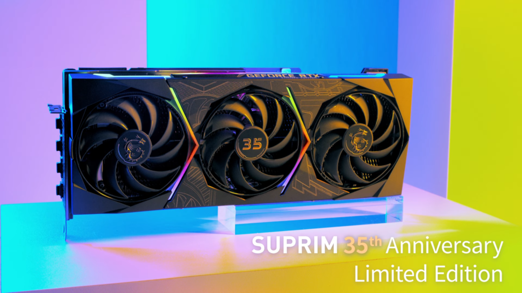 MSI Provides First Look At Its GeForce RTX 30 SUPRIM 35th Anniversary Limited Edition Graphics Card 1