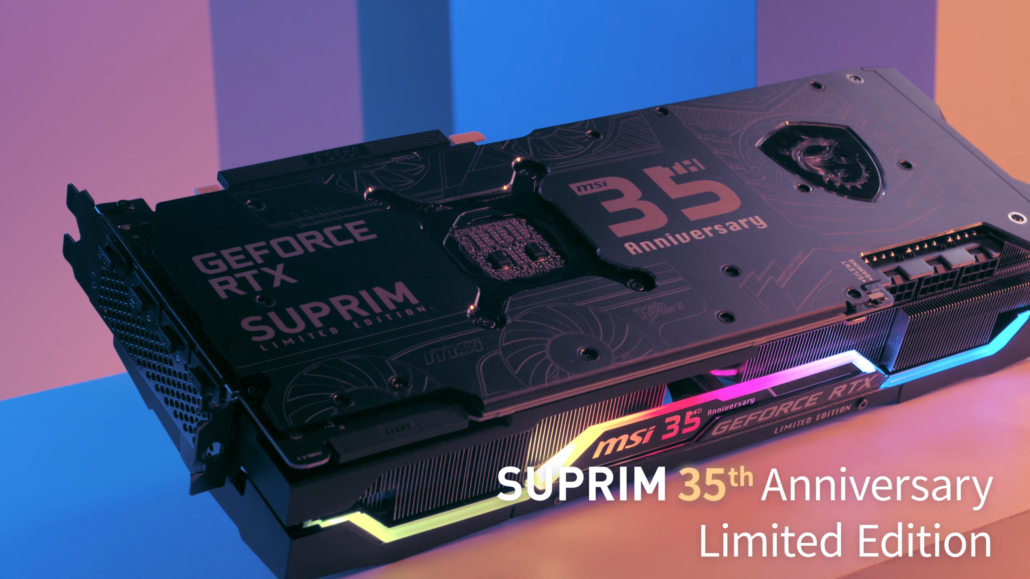 MSI Provides First Look At Its GeForce RTX 30 SUPRIM 35th Anniversary Limited Edition Graphics Card 2
