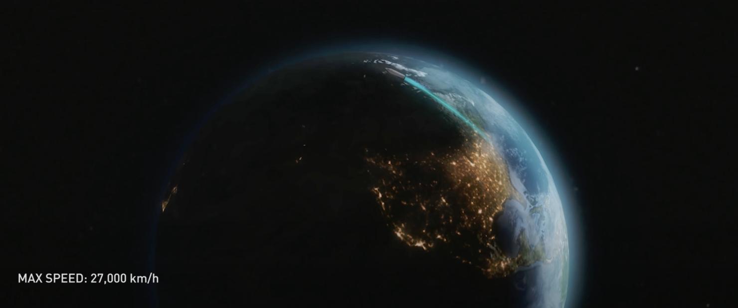 Starship earth flights top speed
