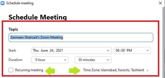 Schedule Meetings In Zoom