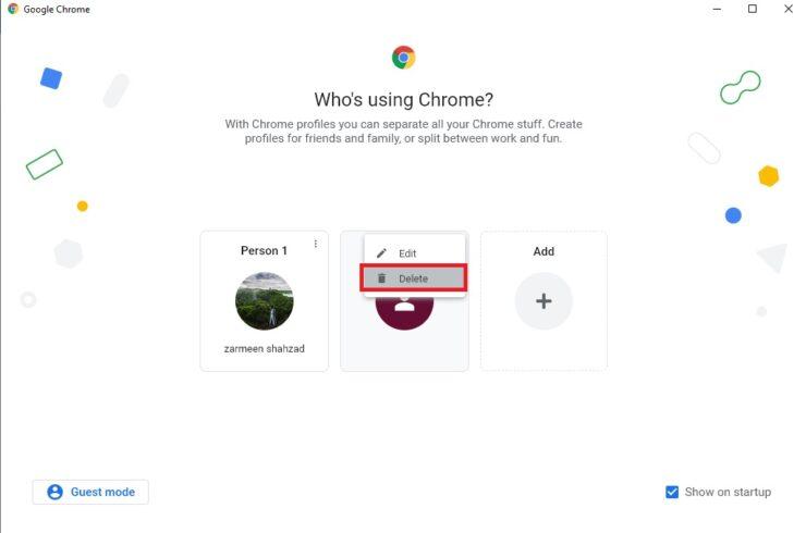 Separate Chrome Profile