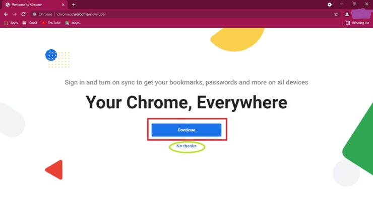 Separate Profiles on Google Chrome