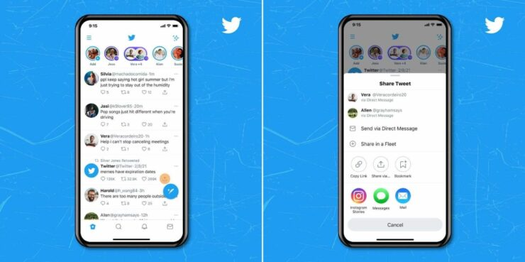 Share your Twitter tweets straight to Instagram Stories using the official iPhone app