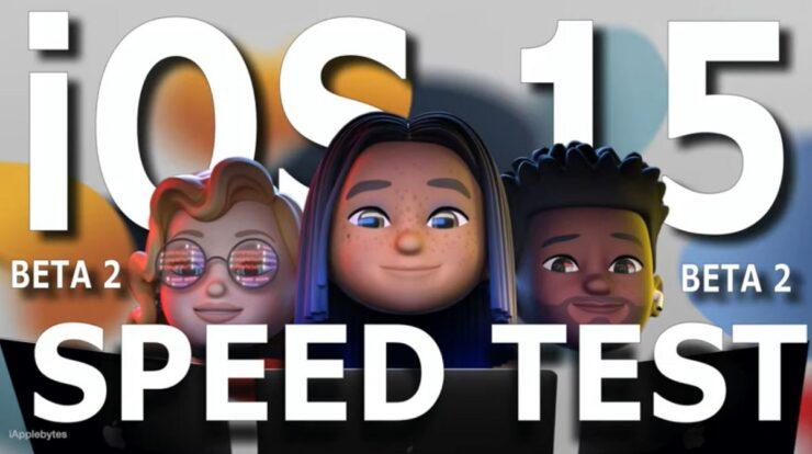 iOS 15 beta 2 speed test comparison