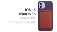 iOS 15 / iPadOS 15 compatible iPhone and iPad devices