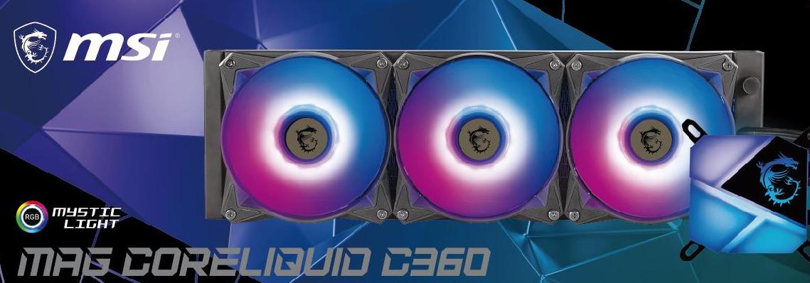 MSI MAG CORELIQUID C360 AIO Liquid Cooling Pictured, Offers Full Compatibility With LGA 1700 'Intel Alder Lake' CPU Socket