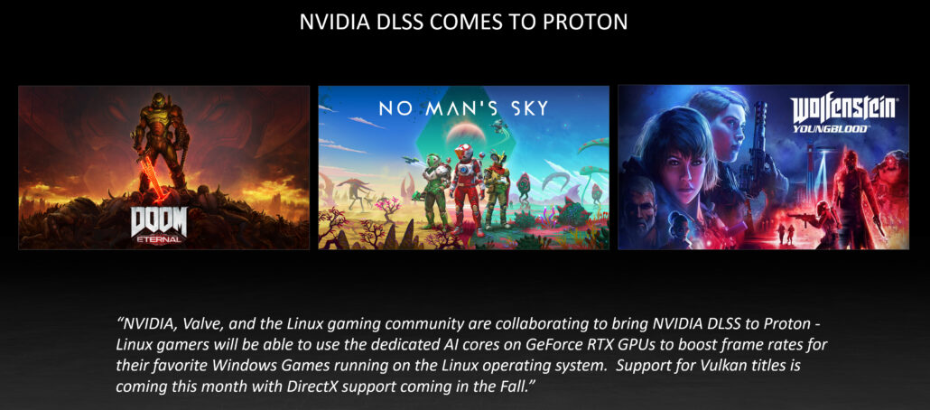 nvidia dlss june 2021 update dlss comes to linux proton