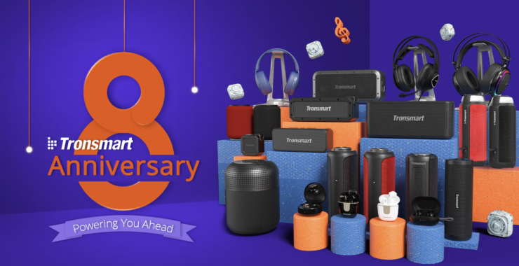 Tronsmart Celebrates Its 8th Anniversary with a Giveaway