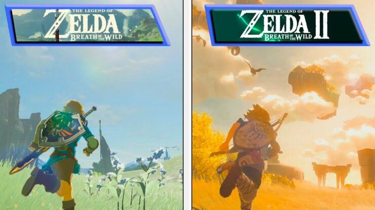 zelda breath of the wild 2 comparison