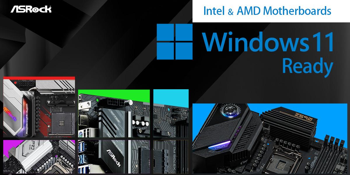 ASRock Unveils Windows 11 Compatible Motherboards