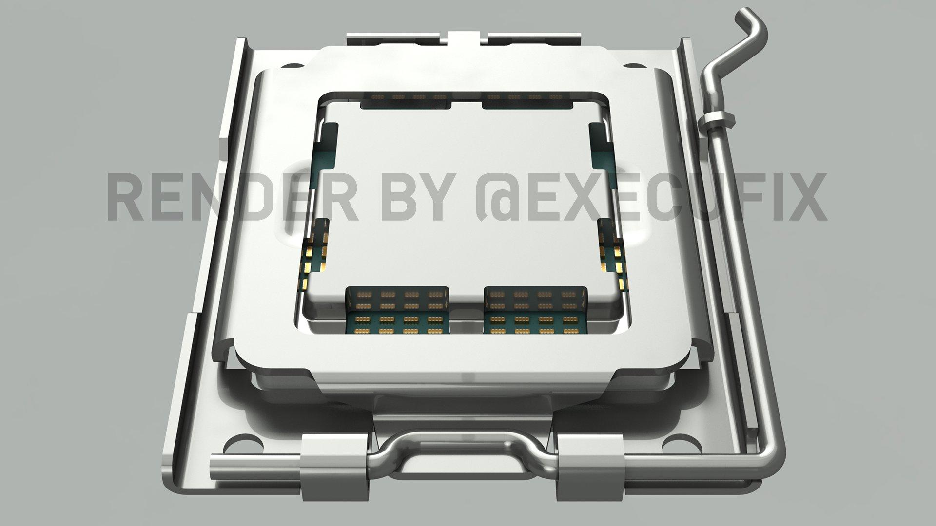 AMD AM5 LGA 1718 CPU Socket For Next-Gen Ryzen Desktop CPUs Pictured In Latest Renders