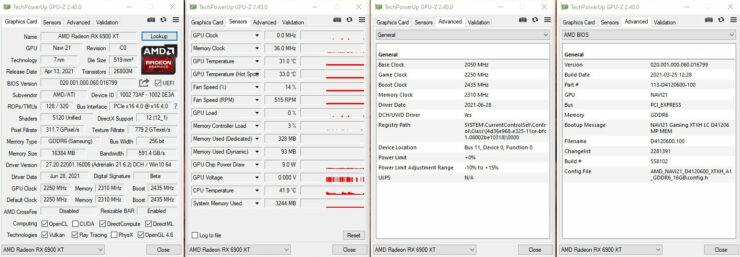 AMD Radeon RX 6900 XT LC GPUZ