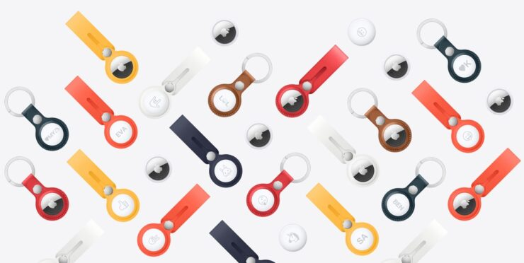 AirTag Leather Loop and Key Ring Colors