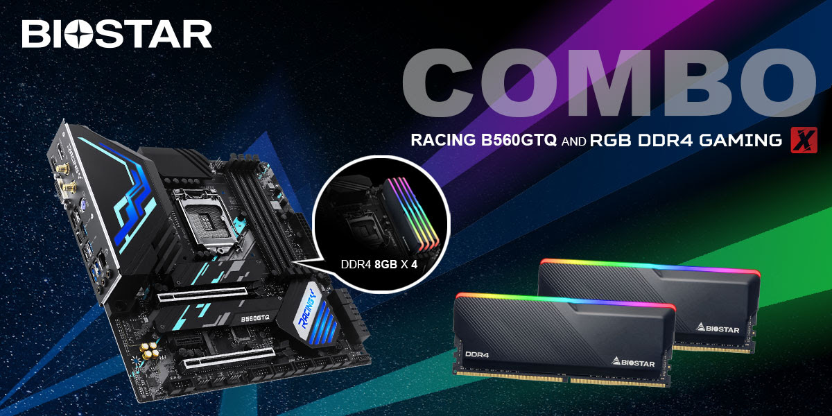 BIOSTAR Launches RACING B560GTQ Motherboard & RGB DDR4 GAMING X RAM Kit Bundle For 0 US