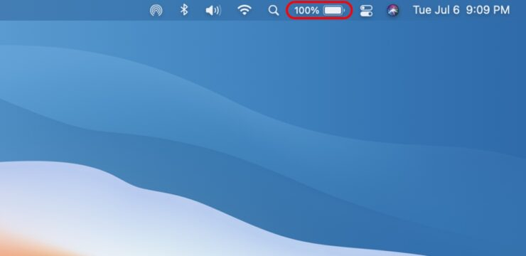 how to enable battery percentage in Mac menu bar