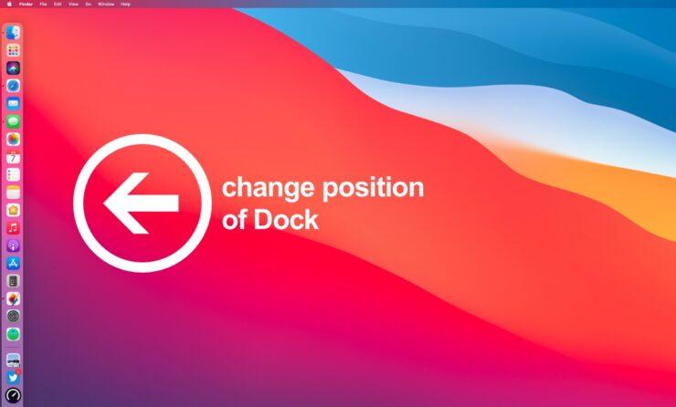 Change position of Dock in macOS tutorial
