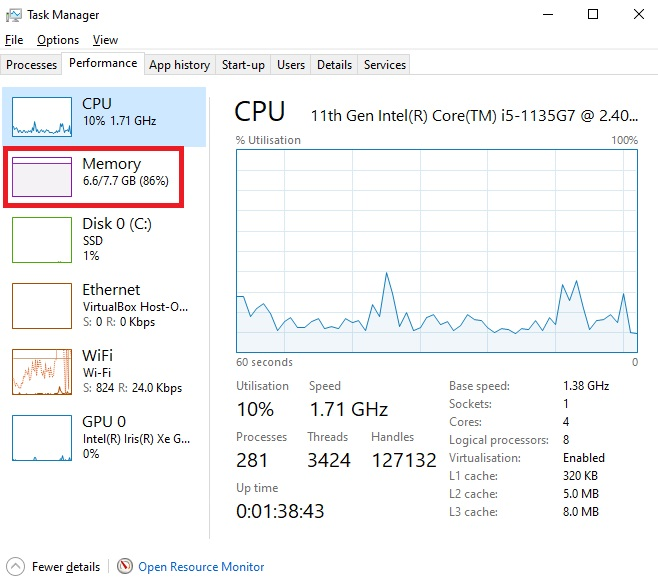 Check RAM Speeds