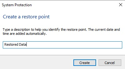 Name System Restore Point