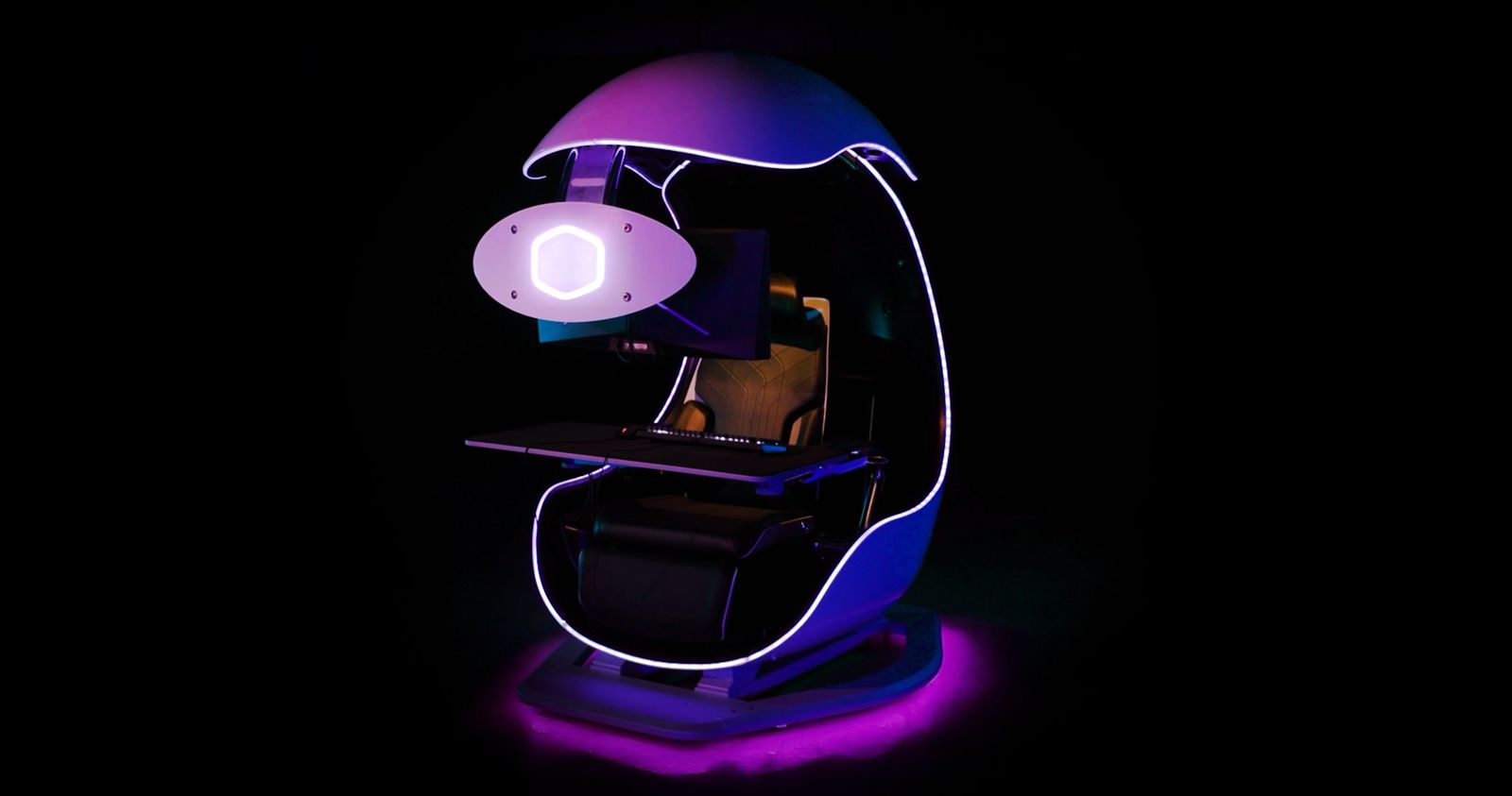 Cooler Master Unveils The ORB X Semi-Enclosed Workstation, A Futuristic Looking & Immersive Gaming Pod