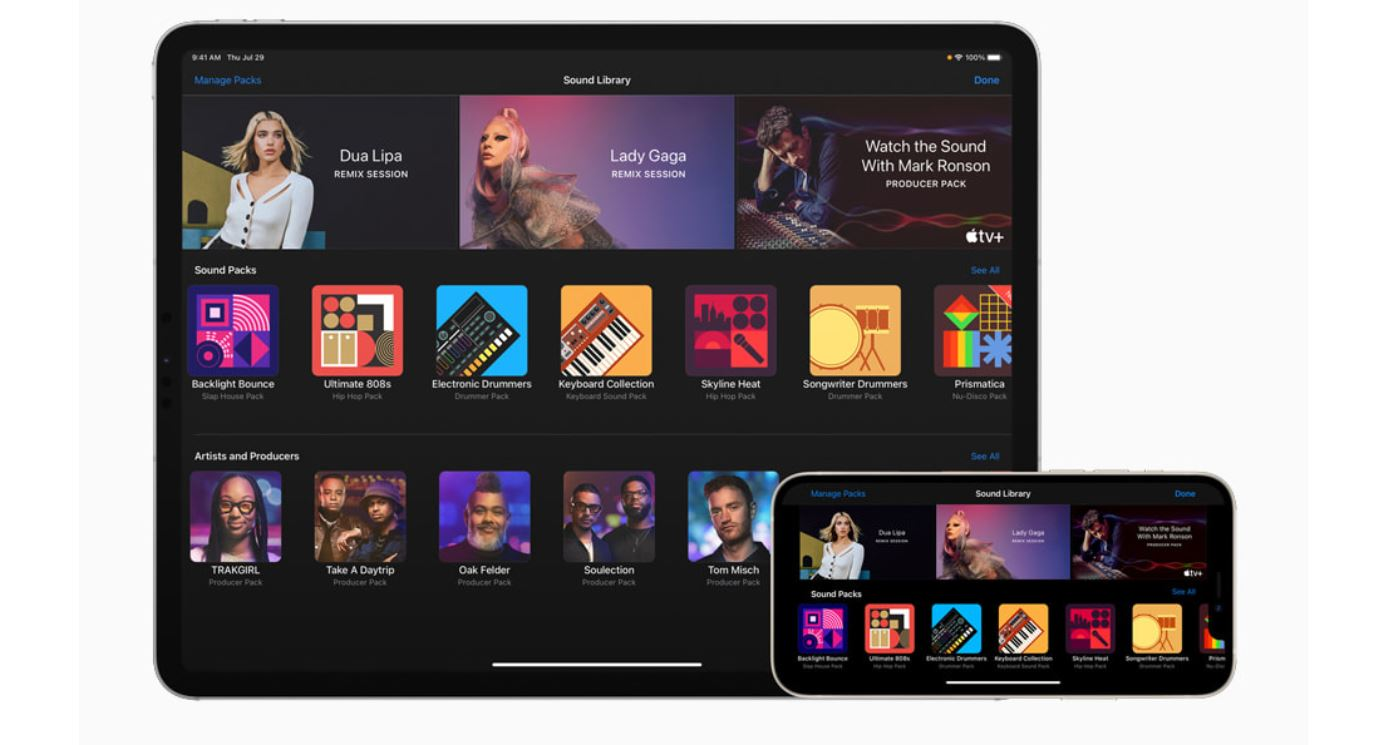 GarageBand for iPhone and iPad Adds Sound Pack