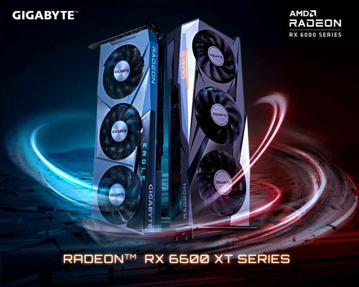 Gigabyte Radeon RX 6600 XT Custom Gaming & Eagle Graphics Cards Leak Out Accidently, PowerColor Teases Its Red Devil & Hellhound Series