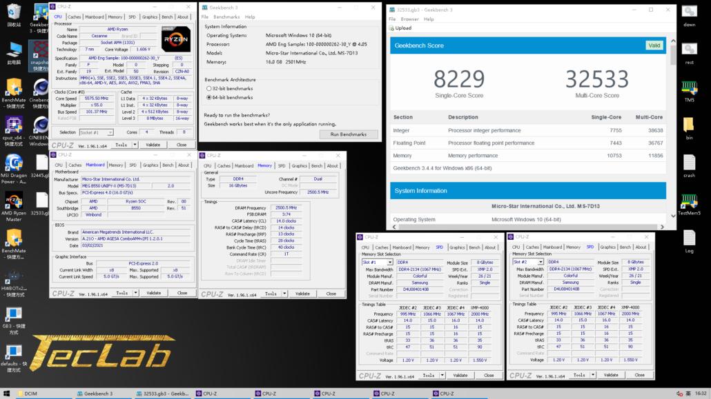 Overclocker, Takukou, Achieves 2.5 GHz FCLK With AMD Ryzen 3 5300G APU & MSI MEG B550 Unify-X Motherboard 2